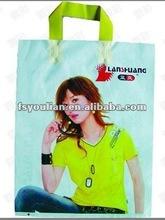 Custom Printed Glue Patch Handle Poly Bag