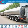 sulfuric acid stainless steel tanker trailer diesel aluminum alloy tank trailer 3 axle gasoline petroleum oil tank semi trailer