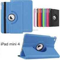 New Arrival For iPad mini 4 360 Rotating Leather Case