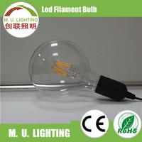 Non-dimmable 2W 4W 6W 8W energy saving led filament bulb, G45 G95 G125 led light bulb
