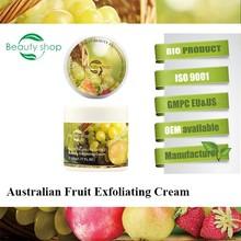 Australian Fresh fruit skin Cosmetic Skin care Dead Skin Removal Facial Exfoliating Cream