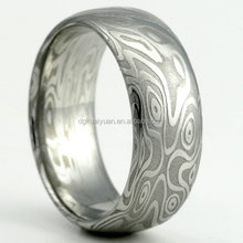 Wholesale fashion stainless steel damascus ring