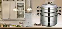 Bakelite handle double bottom steamer pot