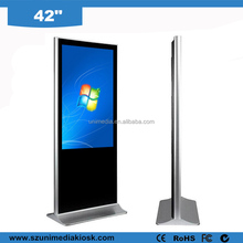 Smart floor stand wifi HD 42 inch LCD advertising touch screen display