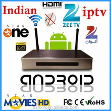 VOD sex Movies+google android system internet tv box indian channels cable set top box price iptv box indian channels