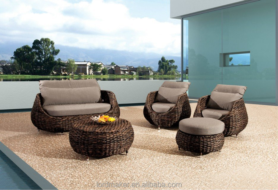 High end poly rattan garden furniture living room egg for Outdoor furniture high end
