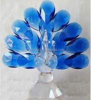 peacock wedding favors crystal figurine MH-D0330