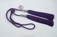 fancy curtain accessories tassel fringe,purple curtain tassel tiebacks