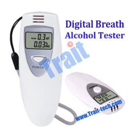 Portable Digital Breath Alcohol Analyzer, drive safety Breathalyzer Tester