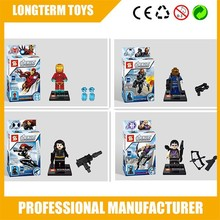 Mini block super hero figure plastic building block toys for boys