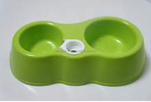 hot selling plastic double diner dog bowl/feeder for food and water