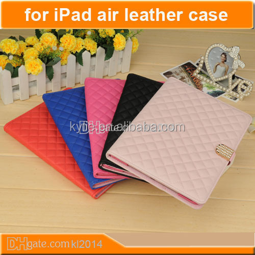 folding stand belt clip smart case pu leather wallet case wake up/sleep cover flip stand case cover for ipad 5 air