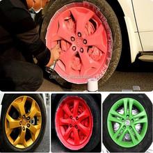 Easy Removable 400ml car wheel rims aerosol Spray rubber paint