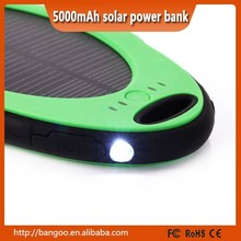 2015 New Products 5000 mAh solar power bank, Solar Charger for mobile phone