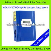 I-P-SMART2 DC 12V 24V 48V auto LAN port all battery defined 60A MPPT regulator