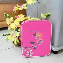 Pink Neoprene Flower Printing Laptop Sleeve