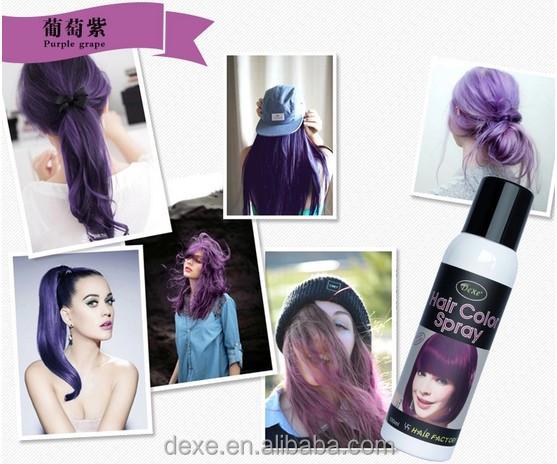 Mejor calidad de tintura para cabello lavable tintes cabello spray oem