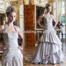 Ar0146 Elegant Shape Halter Tiered Bridal Wedding Dress