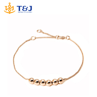 Wholesale Jewelry Top Quality String Together The Happiness Rose/WhiteGold Plated Link Chain Charm Bracelet/