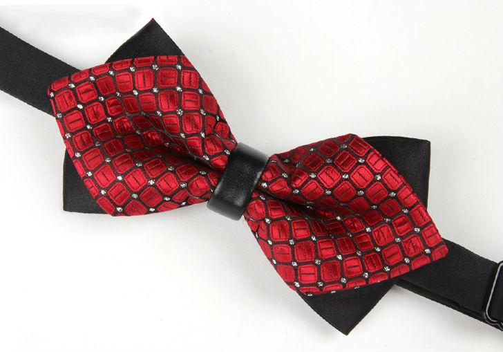 Mens high quality decoration custom silk bow tie