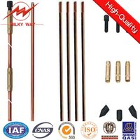"5/8"" 3/4"" Copper Bonded Earthing Rod of Grounding Material"