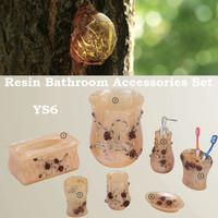 Guangzhou BHL Hotel Articles Romantic Rose Resin bathroom accessories sets Resin bathroom sets Resin bathroom decorations YS6