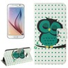 Alibaba China Sleeping Owl Texture Mobile Phone Leather Case for Samsung Galaxy S6