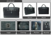 Hot Sale 2015 high quality men items Business Promotional Travel Bag luggage bag Brown Carbon fiber Polyester PU