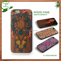 high quality wood case made in china professional supplier,for iphone 6 plus custom color printing design real wood case