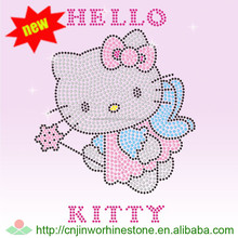 beautiful HI Hotfix Motif Hello Kitty Rhinestone for Heat Transfer T-shirt 1 (18)