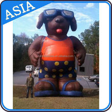 Inflatable Dog Mascot With Sunglasses For Outdoor Advertising / Business Promotion