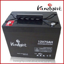 12v UPS battery 12v 75ah lead acid battery professional manufucturer in China