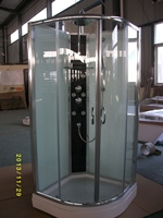 bathroom PORTABLE sector enclosed shower STALL sliding doors design with termostatic mixer for mordern home design