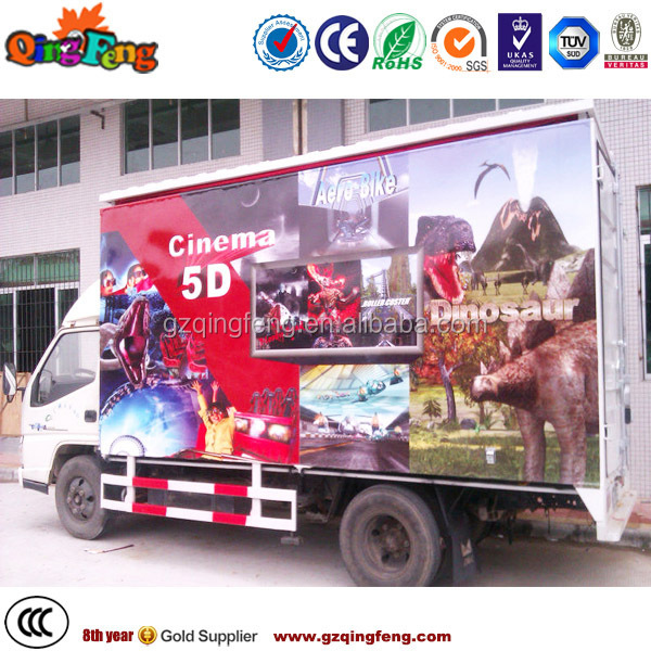 Canton Fair Amusement theme park hydraulic 5d cinema