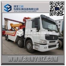 Factory direct sell! HOWO rotator recovery truck 50 ton heavy duty rotator wrecker RTR 50 rotator tow truck for sale!