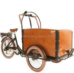shopping Danish bakfiets 3 wheeler cargo tricycle for family