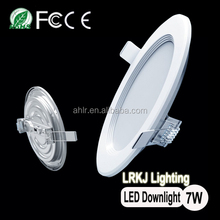 CE RoHS FCC PSE approved super slim design 7w led panel light