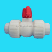 Water Supply Plastic Injection, Pipe fitting , ppr double union ball Valves for cold water