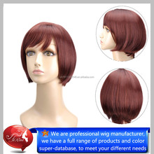 Comfortable curly Mini Bob Straight Hair Wigs, Hairstyles For Black Women, New Arrival synthetic Hair wigs