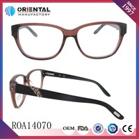 Unique design with Spring Hinge of 2014 latest optical eyeglass frames for women