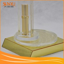 Removable And Rotating Acrylic Skin Care Cosmetic Products Display Stand