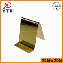 Stainless steel and metal display holder for wallet retail store