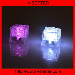 Waterproof LED Flashing Lightup Ice Cube Colorful Cube Crystal Flash Ice Light for Party