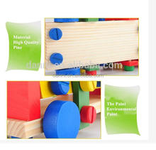 Intelligent HOT Wholesale Wooden Mini Around Children Model Screw Car Toy Wooden Car Selling Baby Wooden Toy Diy