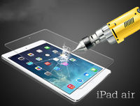 High quality tempered glass 9H slim glass screen protector for ipad air