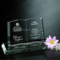 crystal glass book for trophy award