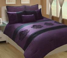 7Pcs Flocking Comforter Set