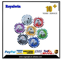 40*3.3mm custom casino clay poker chip