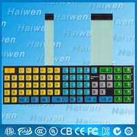 Customized waterproof embedded LED membrane keypad