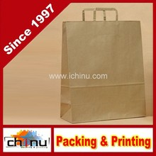"""empo Retail Paper Shopping Bag, 8"""" Width x 10-1/4"""" Height, Brown, 100% Recycled(220032)"""